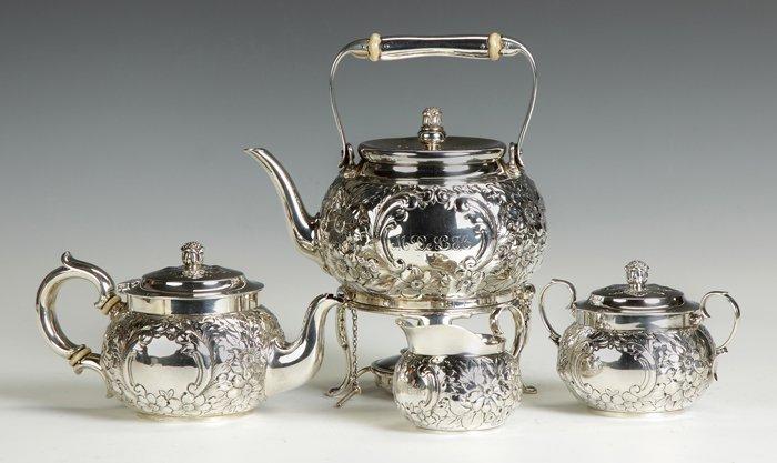 Tiffany & Co. 4 Pc. Diminutive Sterling Silver Tea Set