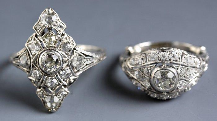 Two Platinum & Diamond Rings