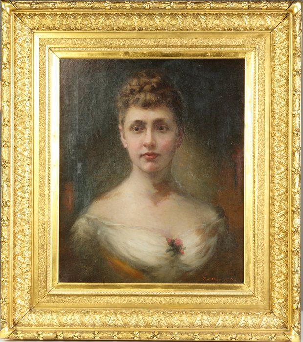 Thomas LeClear (American, 1818-1882) Portrait of a lady
