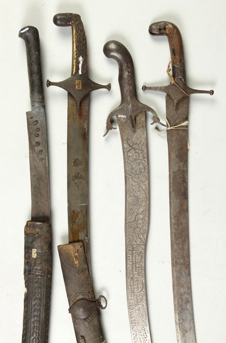 Four Middle Eastern Swords