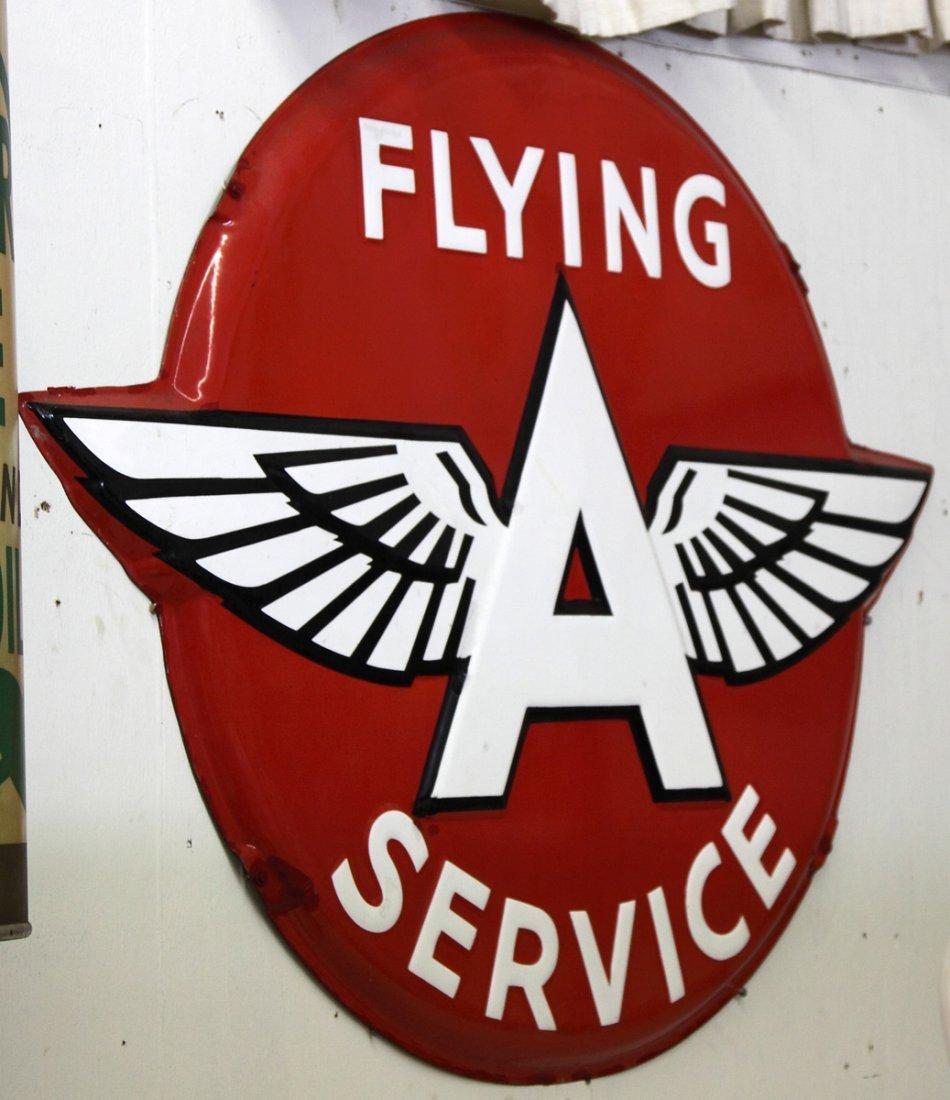 Vintage Flying A Service Porcelain Sign