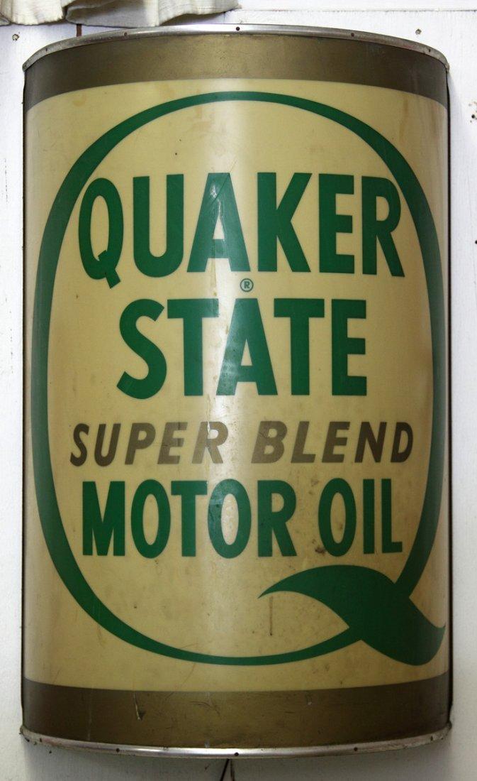 Vintage Quaker State Super Blend Motor Oil Celluloid Li