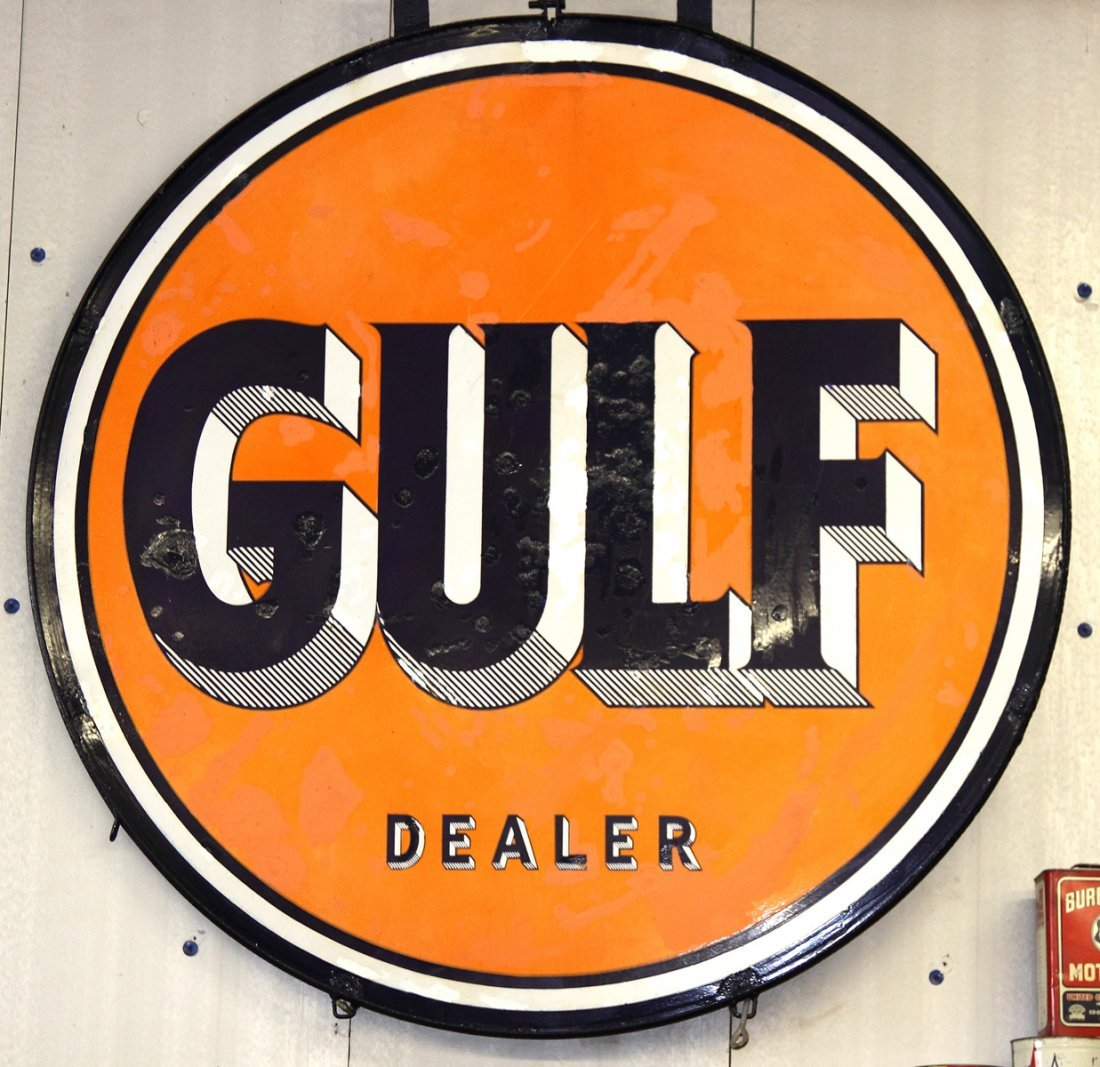 Vintage Gulf Dealer Sign