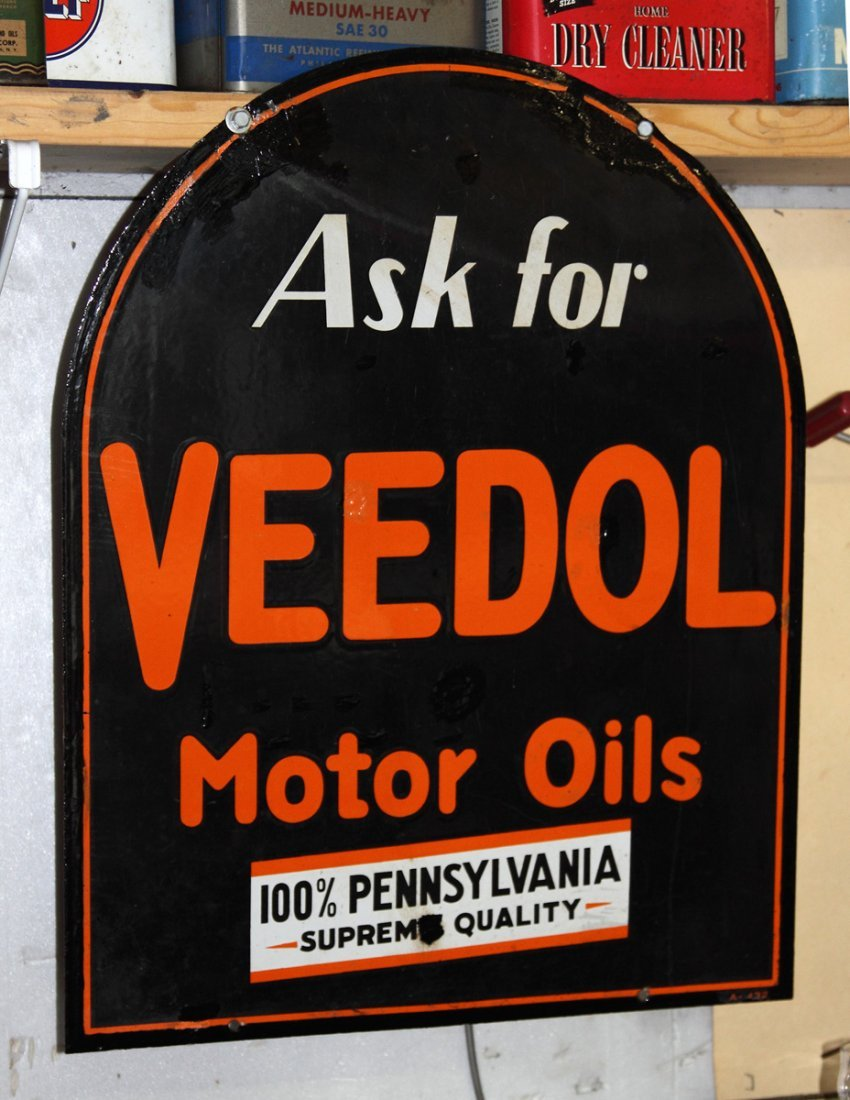 Vintage Veedol Motor Oils Sign