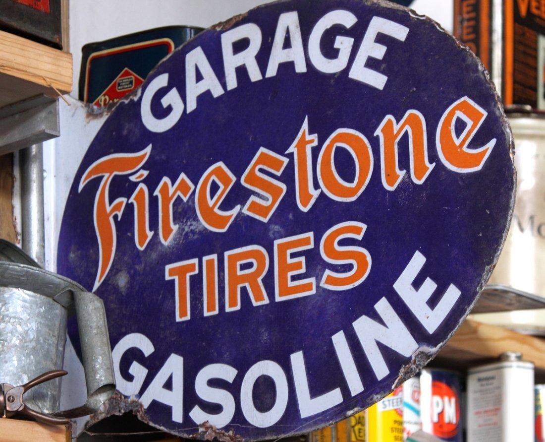 Vintage Firestone Tires Porcelain Sign