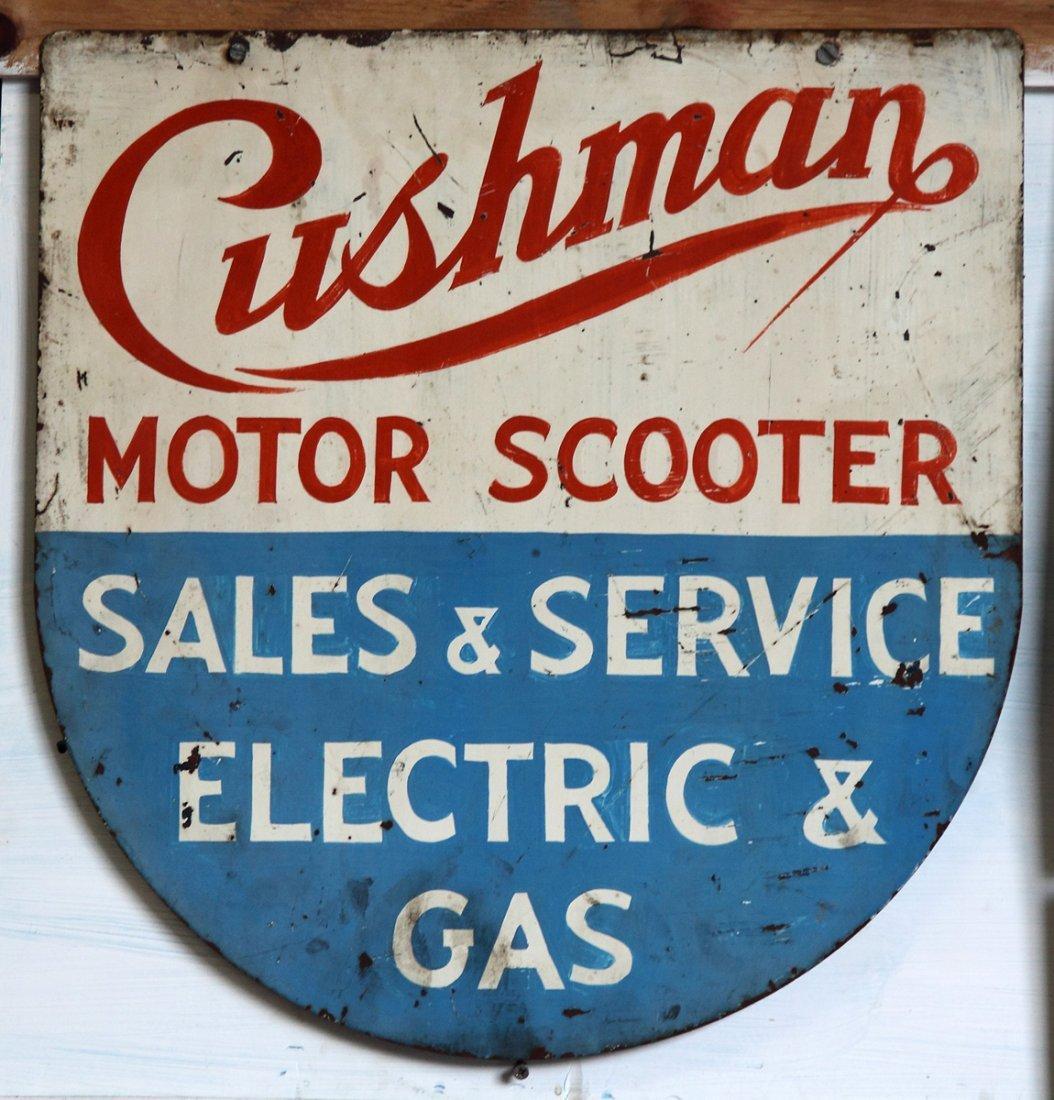 Vintage Cushman Motor Scooter Tin Sign