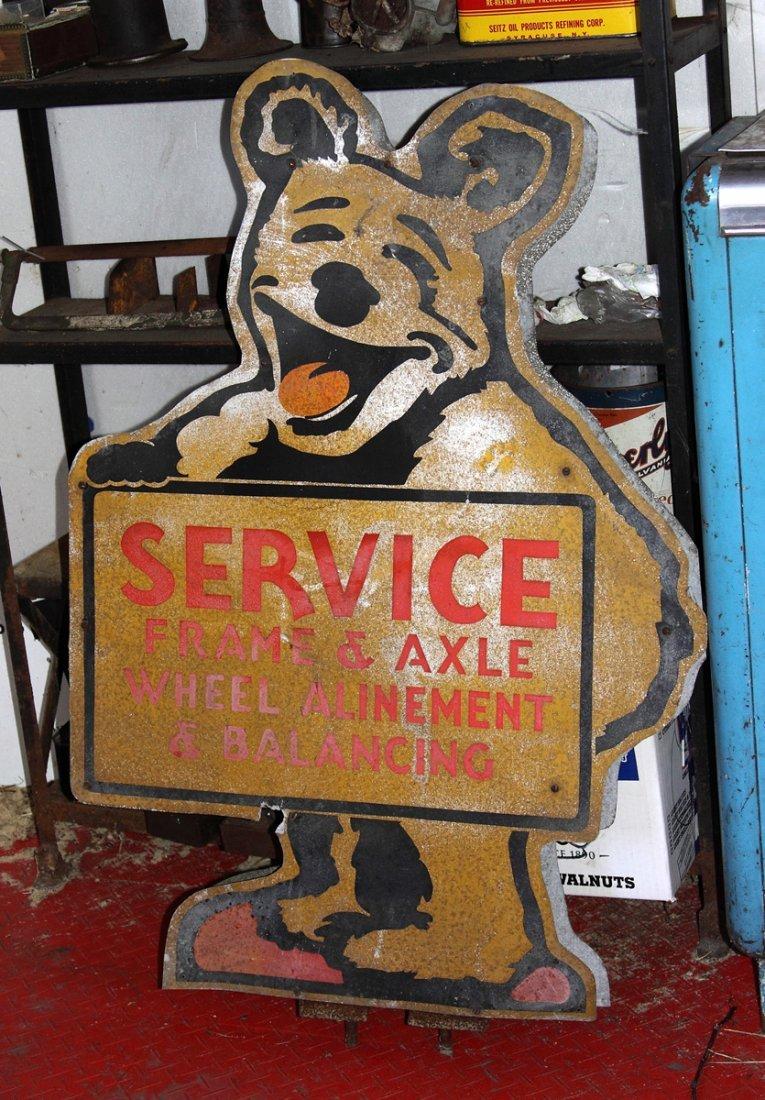 Vintage Service, Frame & Axle Tin Sign