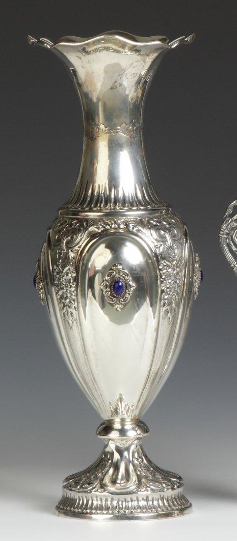Italian Repousse Silver Vase