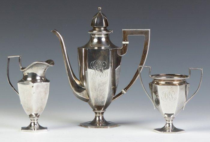 Theodore Starr 3-Piece Sterling Silver Tea Set