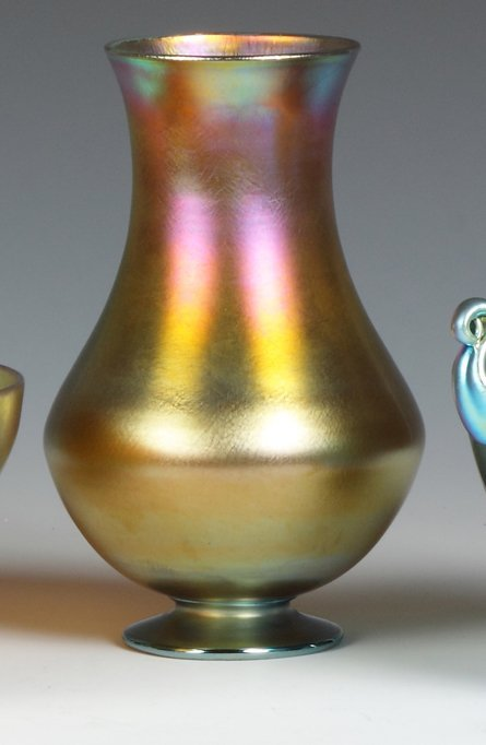 Tiffany Gold Iridescent Vase