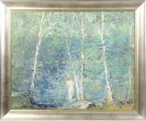 Emile A. Gruppe (American, 1896-1978) Nude in stream