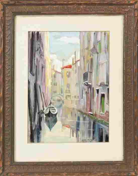 Jane Peterson (American, 1876-1965) Venice scene