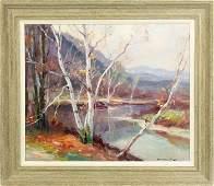 "Emile Albert Gruppe (American, 1896-1978) ""Birches"