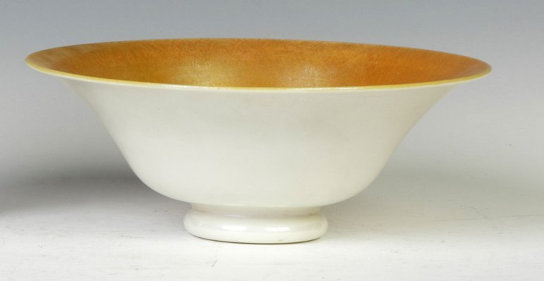 Steuben Gold Aurene & Calcite Bowl