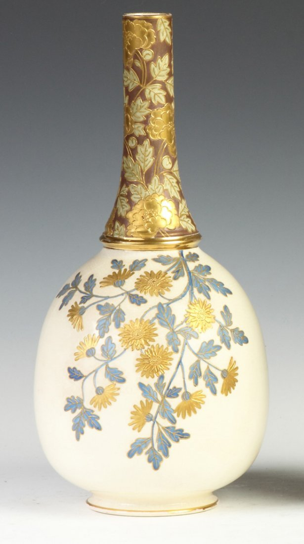 Faience Enameled Vase