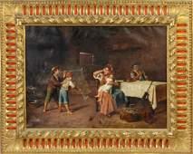 Attr. To E. Deblaas, Italian family scene