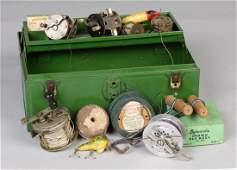 Group of Vintage Fishing Reels  Tackle