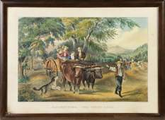 """Currier & Ives """"Haying Time. The First Load"""""""