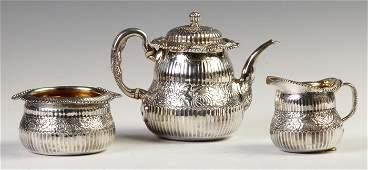 Tiffany  Co Sterling Silver 3Pc Tea Set