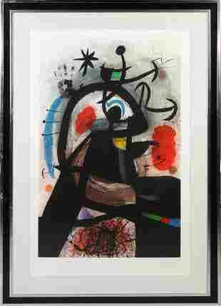 "Joan Miro (Spanish, 1893-1983) ""Le Permissionnaire"""