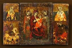 Early Greek Icon Triptych
