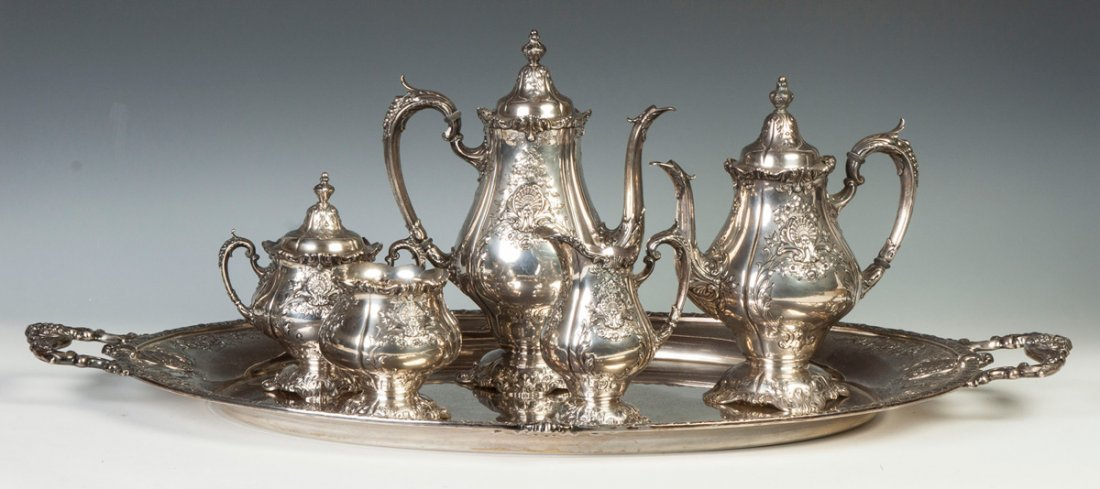 """Wallace """"Sir Christopher""""  Sterling Silver Five-Piece"""