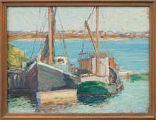 George Renouard (American, 1884-1954) Fishing boats at