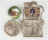 Silver  Enameled Boxes  Compacts