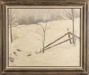 Alexander Robertson James (American, 1890-1946) Winter