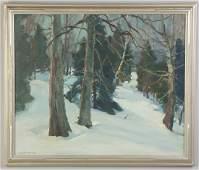 Emile A Gruppe American 18961978 Winter Wood