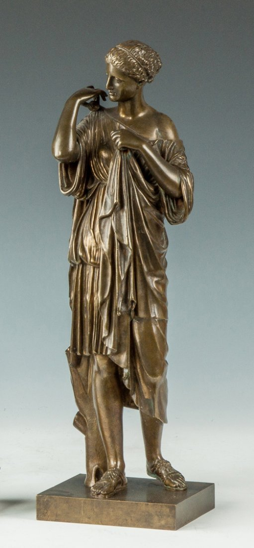 John Walz (American, 1844-?) Bronze Sculpture of Greek