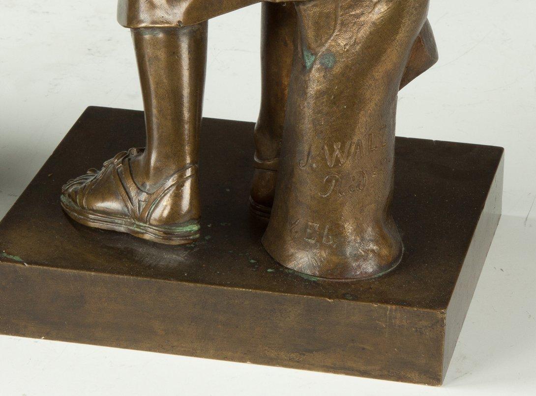 John Walz (American, 1844-?) Bronze Sculpture of Greek - 2