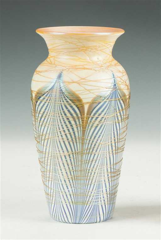 Durand Pulled Feather Vase