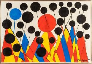 """Alexander Calder (American, 1898-1976) """"Busbies &"""