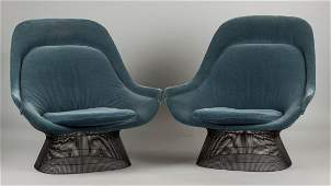 Warren Platner for Knoll Pair of Lounge Chairs