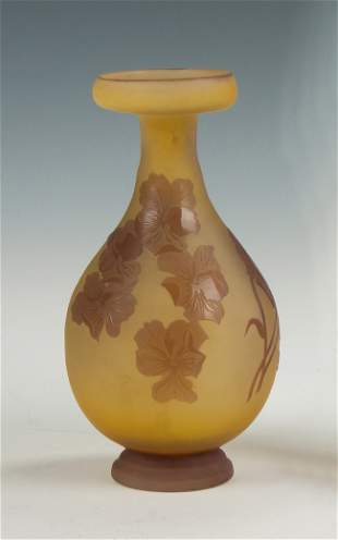 Galle Cameo Vase with Pansy