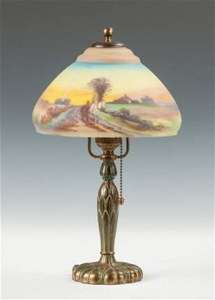 Pairpoint Reverse Painted Boudoir Lamp