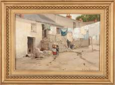 Charles Green (American, 1844-1915) Village Street