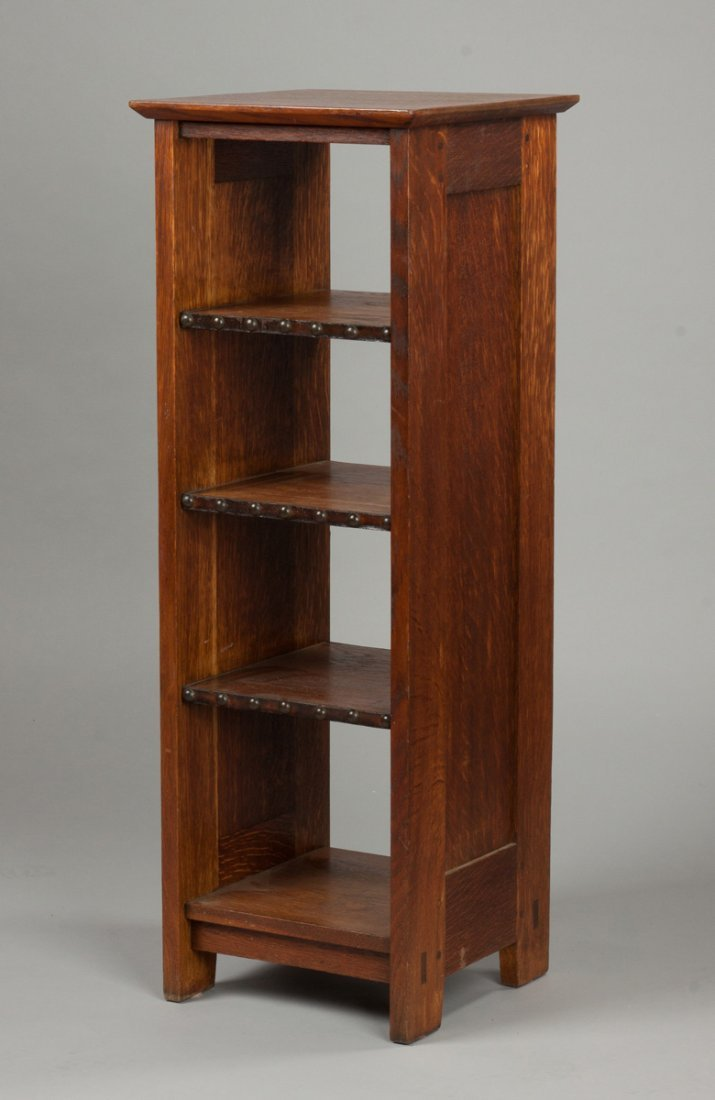 Early Gustav Stickley Oak Book Shelf