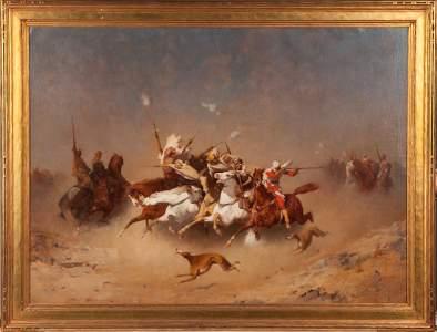 "Paul Delamain (French, 1821-1882) ""Arabian Salute"""