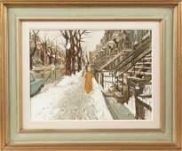 "John Little (Canadian, Born 1928) ""Rue Berri,"