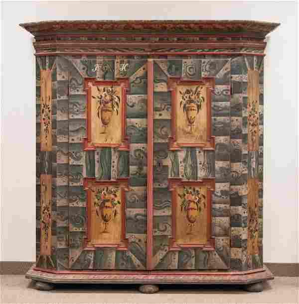 Austrian Paint Decorated Armoire