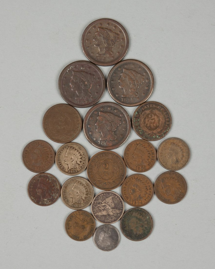 Group of Early Liberty Head & Indian Head Pennies