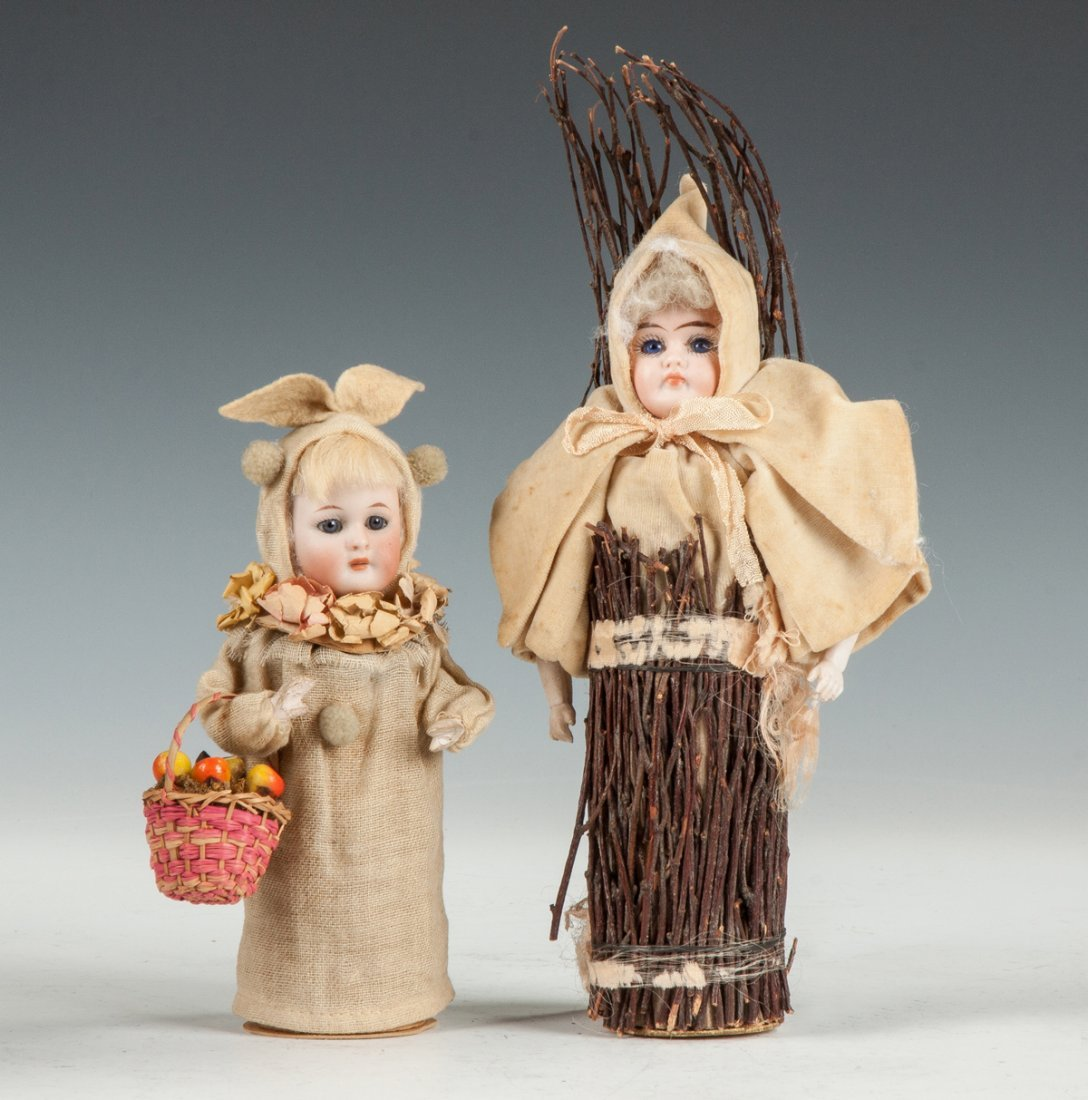 German Bisque Candy Container Dolls