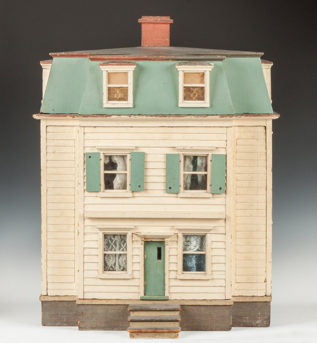 Handmade & Painted Colonial Style Dollhouse