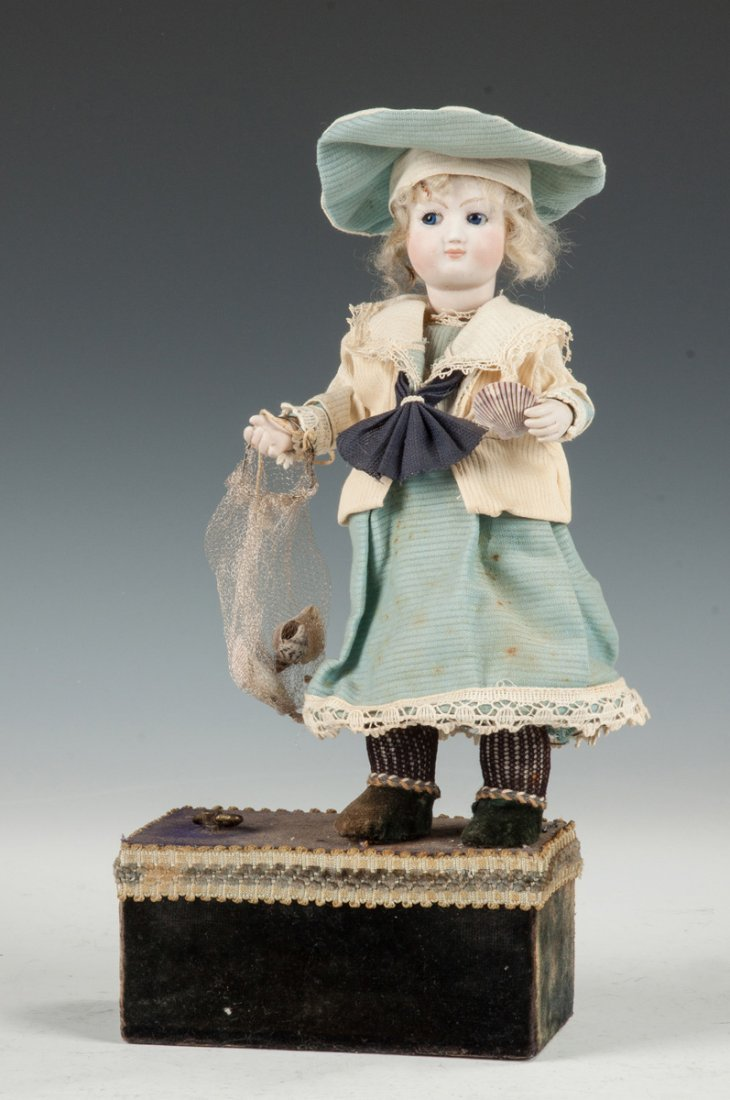 German Automaton Doll with Seashells