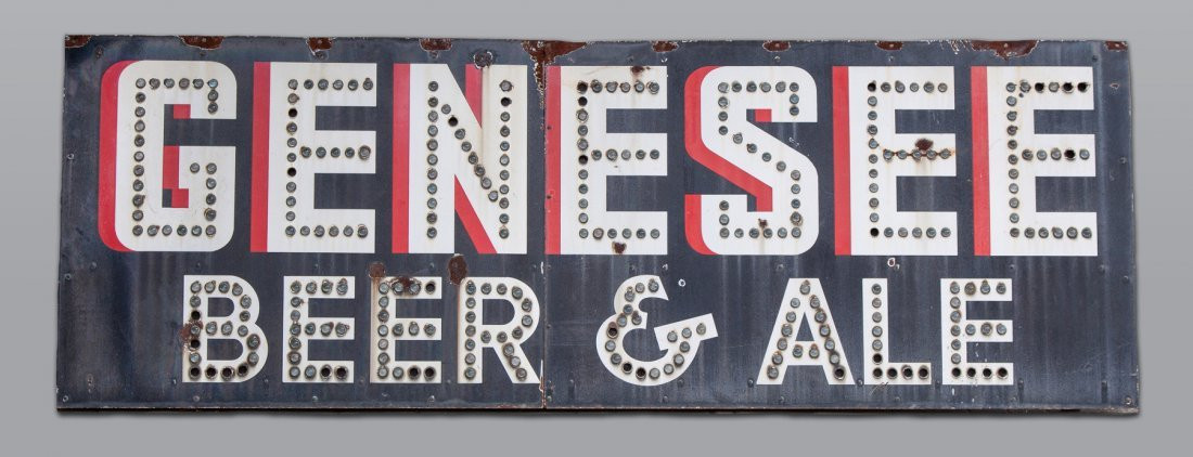 Vintage Porcelain Genesee Beer & Ale Sign