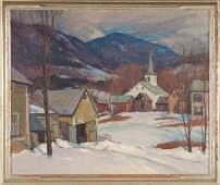 "Emile A. Gruppe (American, 1896-1978) ""Vermont Village"