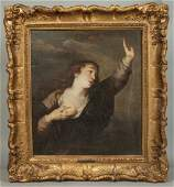 Old Master's School Painting of Woman