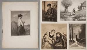 William Morris Hunt (American, 1824-1879) Group of 5
